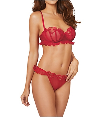 Dreamgirl Stretch Sheer Mesh Bra and Panty Set