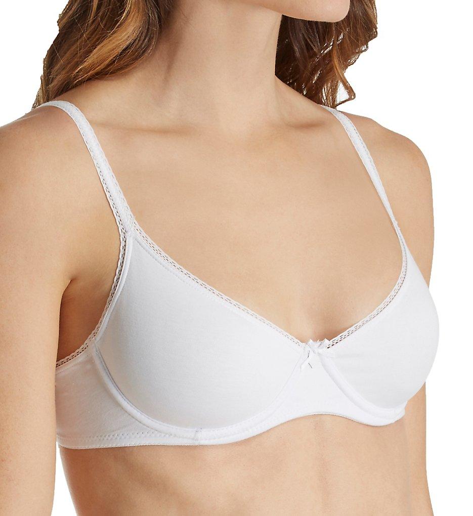 Eberjey B618T Pima Goddess Classic T-Shirt Bra (White)