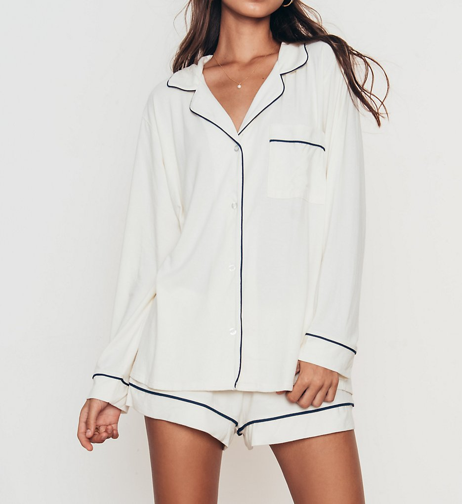 Eberjey Gisele Long Sleeve Short PJ Set PJ1018L - Eberjey Sleepwear 92a289271