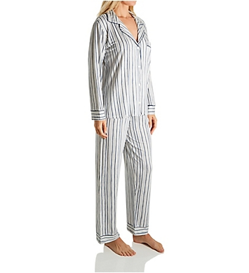 Eberjey Gisele Long Printed Stripe PJ Set