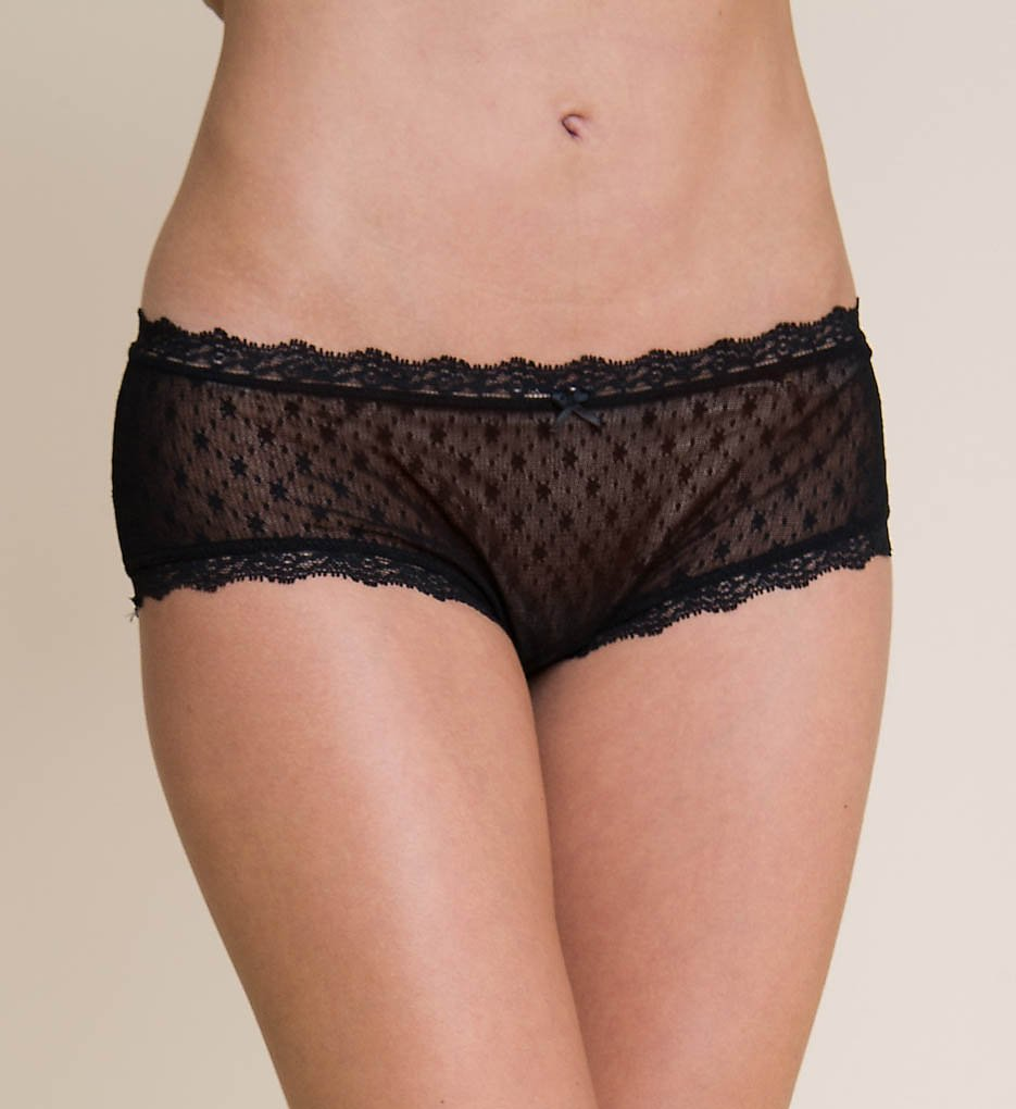 Eberjey : Eberjey U167 Delirious French Brief Panty (Black S/M)