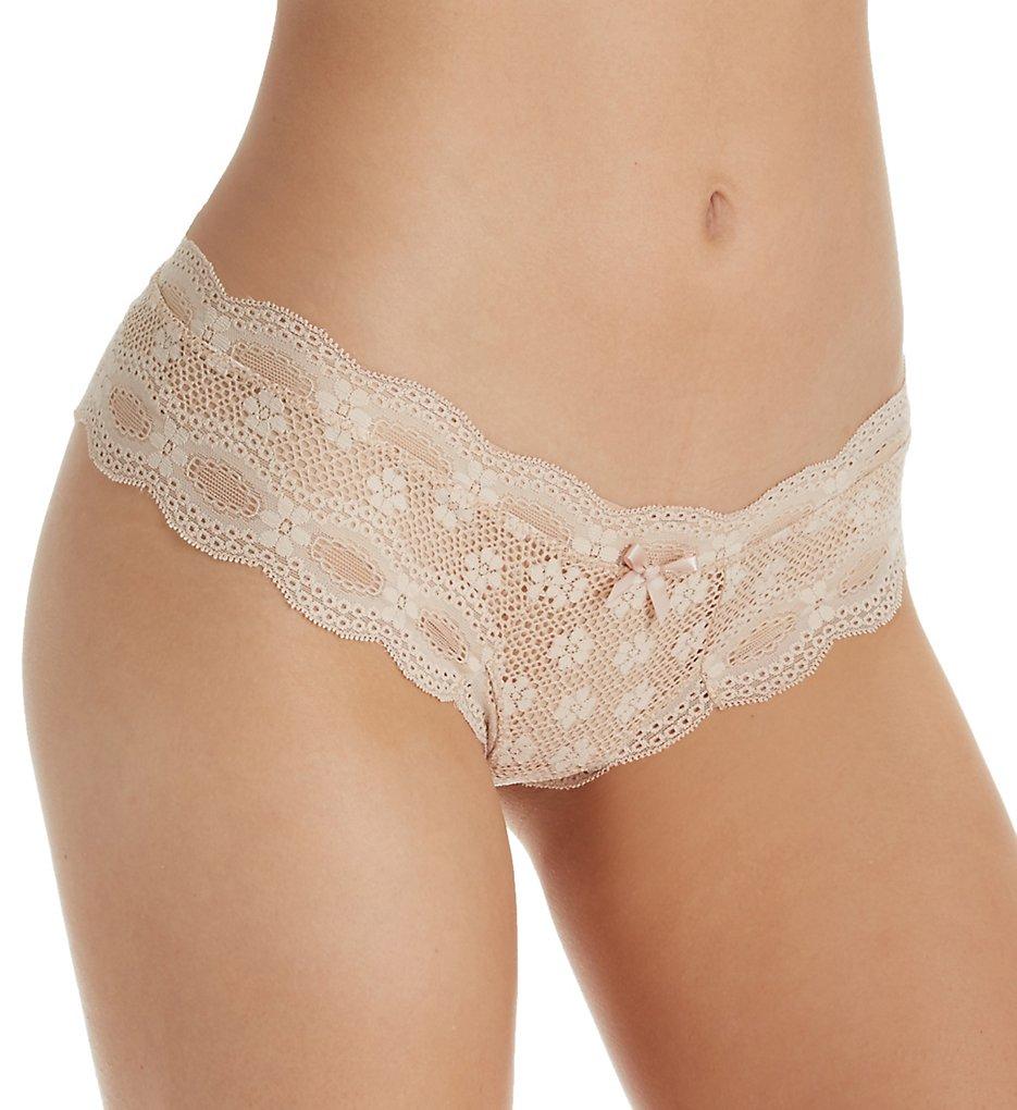 Eberjey - Eberjey U455BT India Lace Low Rise Boythong Panty (Bare S/M)