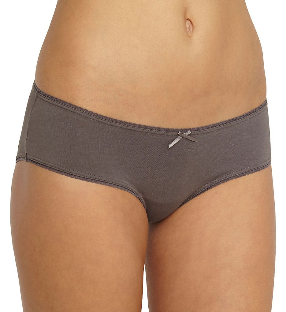 Eberjey >> Eberjey U618 Pima Goddess French Brief Panty (Charcoal S/M)