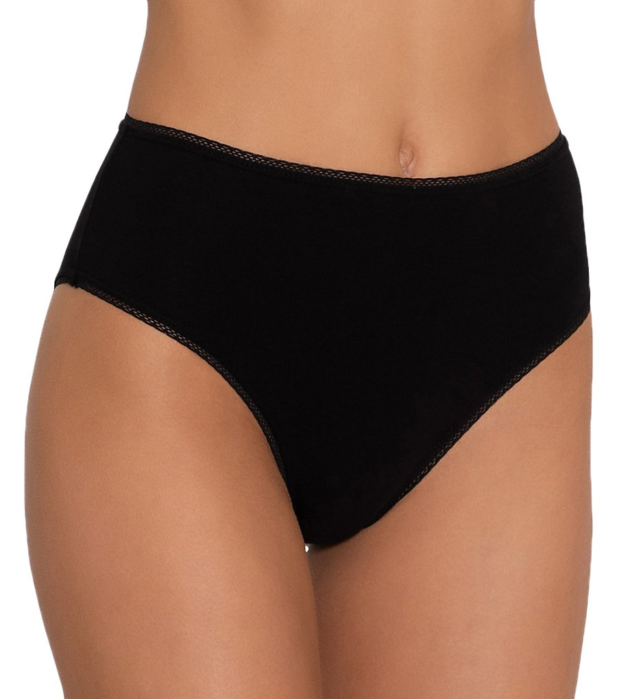 Eberjey - Eberjey UB618H Everyday High Waisted Brief Panty (Black XS/S)