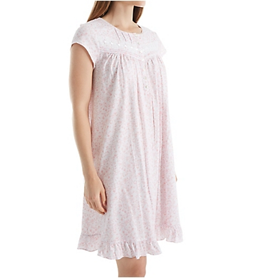 Eileen West Cap Sleeve Rose Short Nightgown