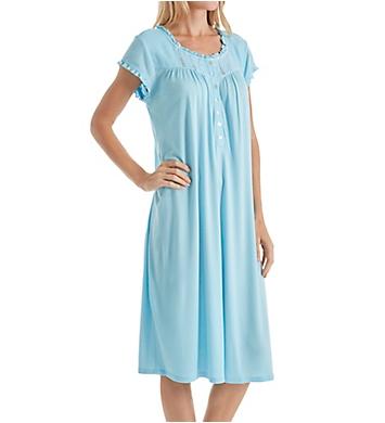 Eileen West Seaglass Modal Short Sleeve Waltz Nightgown