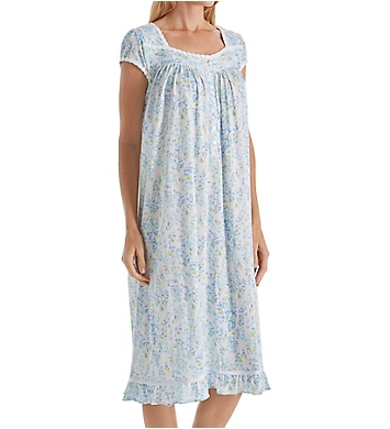 Eileen West Seaglass Modal Jersey Short Sleeve Waltz Nightgown