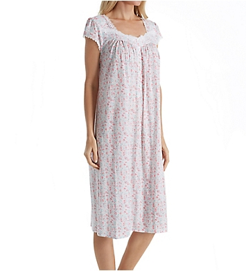 Eileen West Bunched Floral Modal Waltz Nightgown