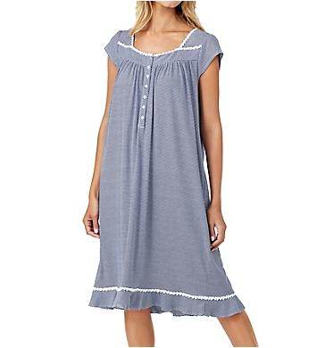Eileen West Navy Stripe Waltz Nightgown