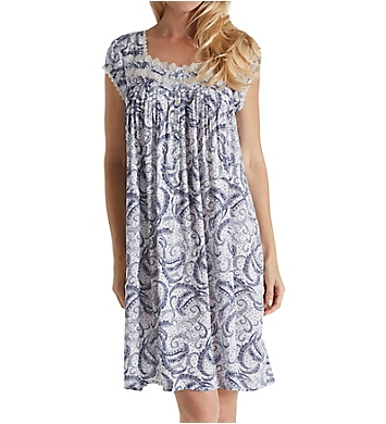 Eileen West Paisley Rayon Woven Short Capsleeve Nightgown