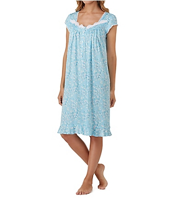 Eileen West Blue Floral Waltz Nightgown