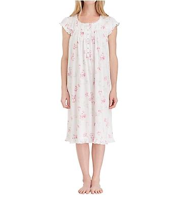 Eileen West Floral Scroll Cotton Modal Waltz Nightgown