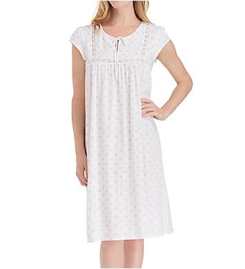 Eileen West Confetti Jersey Waltz Nightgown with Smocking