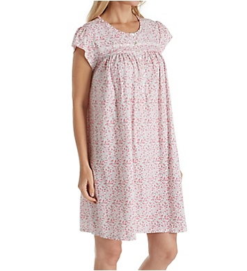 Eileen West Floral Jersey Short Nightgown