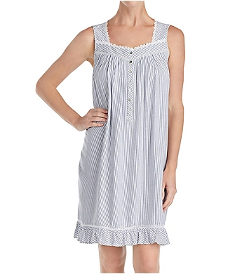 Eileen West Indigo Stripe Short Chemise