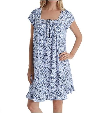 Eileen West 100% Cotton Jersey Cap Sleeve Short Nightgown