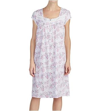 Eileen West Pink Bouquet 100% Cotton Sheer Jersey Gown