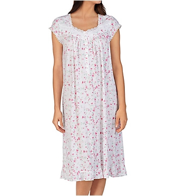 Eileen West Floral Cotton Modal Waltz Nightgown