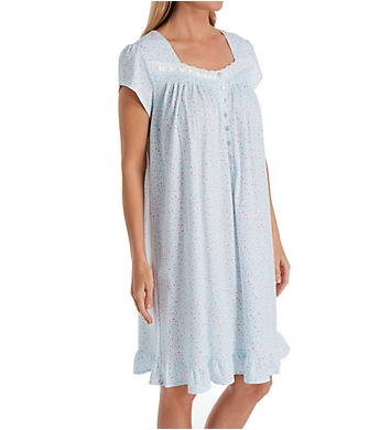 Eileen West Cotton Jersey Cap Sleeve Short Nightgown