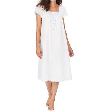 Eileen West 100% Cotton Woven Cap Sleeve Waltz Gown