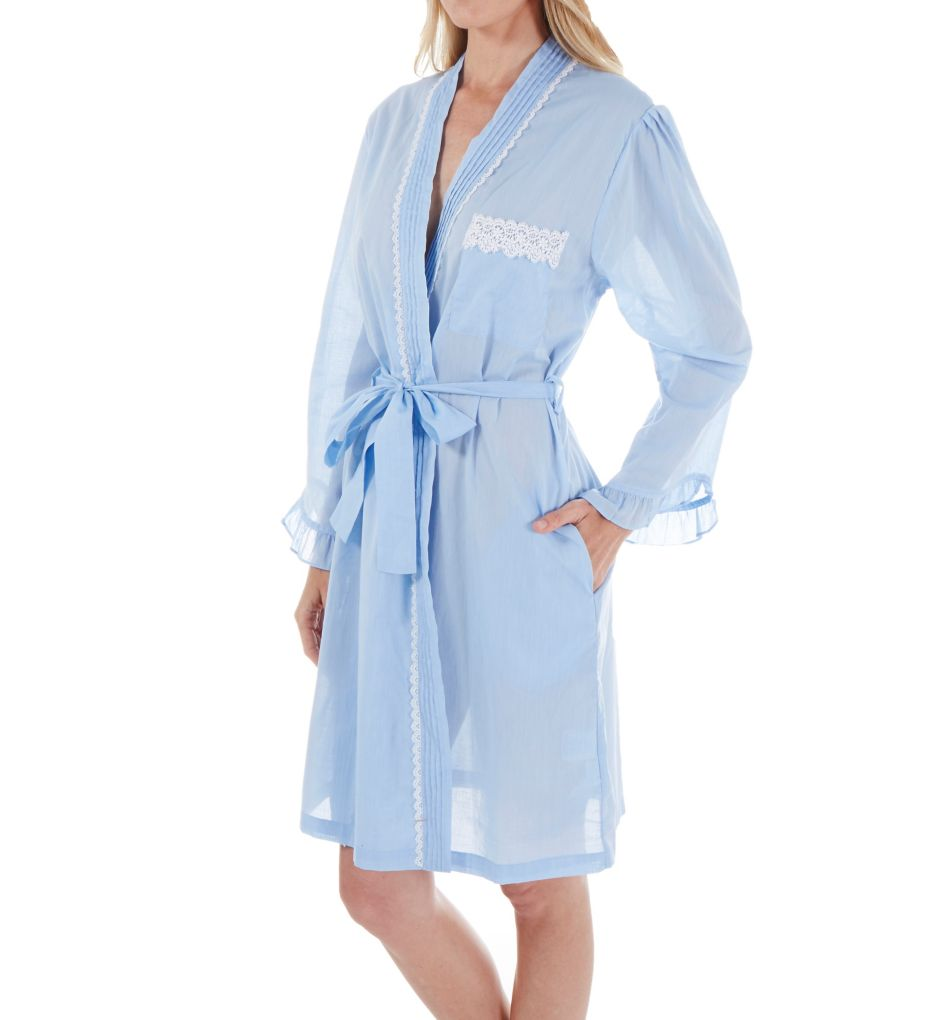 Eileen West Chambray Short Wrap Robe