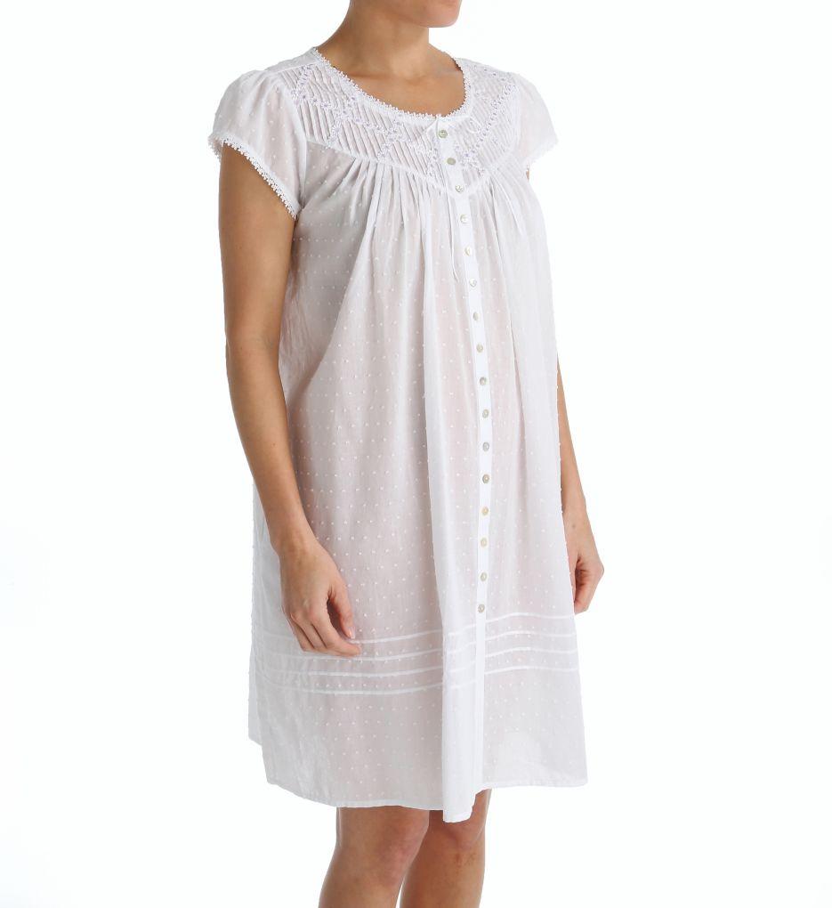 Eileen West Short Button Front Coat/Nightgown