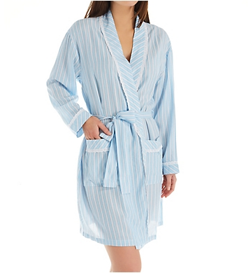 Eileen West Woven Short Wrap Robe