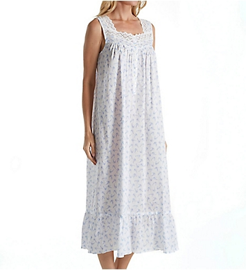 Eileen West Blue Floral Toss Ballet Nightgown