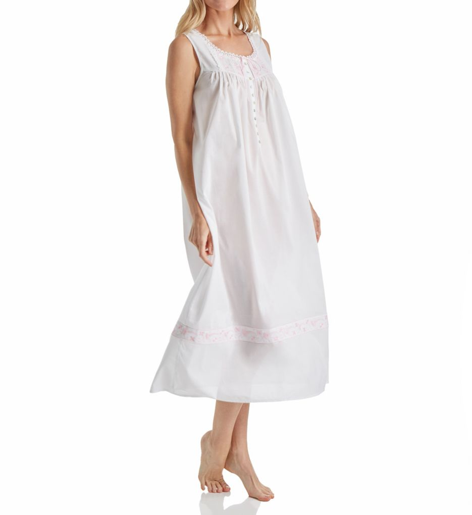 Eileen West Pink Embroidery Ballet Nightgown