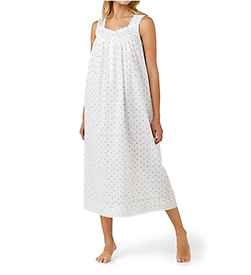 Eileen West Twilight Bay Cotton Lawn Sleeveless Nightgown