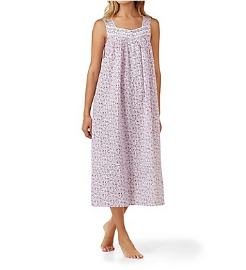 Eileen West Ditsy Cotton Lawn Sleeveless Ballet Nightgown