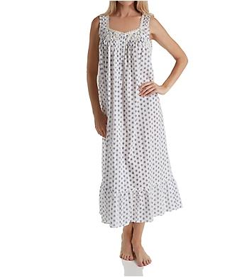 Eileen West Midnight Plum Cotton Lawn Sleeveless Nightgown