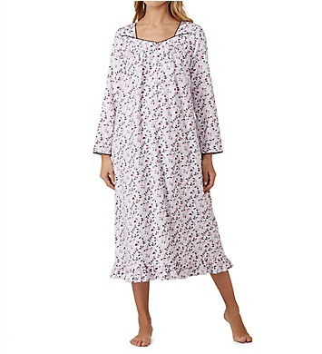 Eileen West Holiday Leaf Flannel Ballet Nightgown
