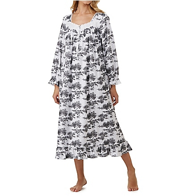 Eileen West Toile Flannel Ballet Nightgown