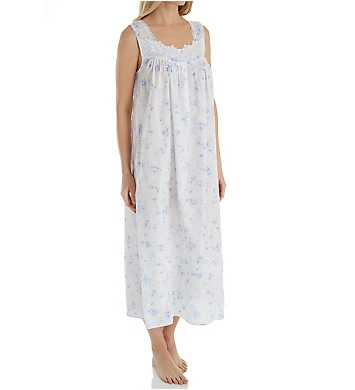 Eileen West Blue Floral Ballet Nightgown
