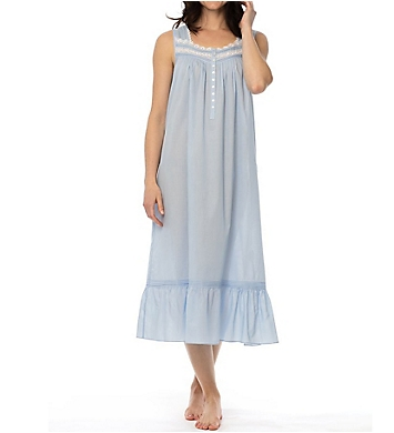 Eileen West Delphinium Sheer Stripe Ballet Nightgown