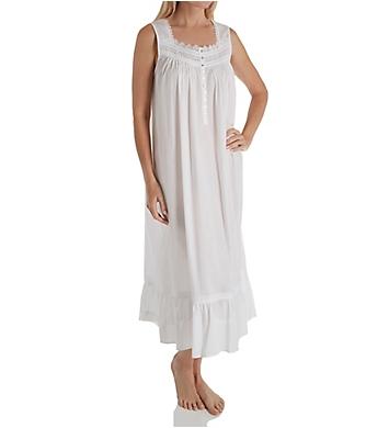 Eileen West Lilac Floral Dot Sleeveless Ballet Nightgown