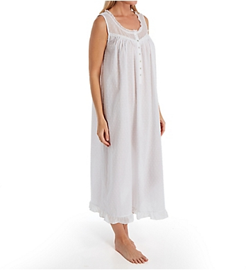 Eileen West Sheer Cotton Swiss Dot Ballet Nightgown