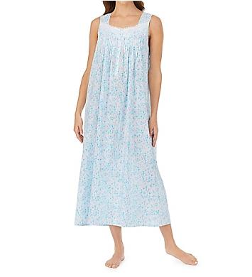 Eileen West Watercolor Floral Cotton Lawn Ballet Nightgown