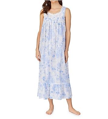 Eileen West 100% Cotton Woven Sleeveless Long Nightgown