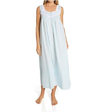 Eileen West Textured Sheer Sleeveless Ballet Nightgown