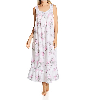 Eileen West Woven 100% Cotton Lawn Sleeveless Ballet Nightgown