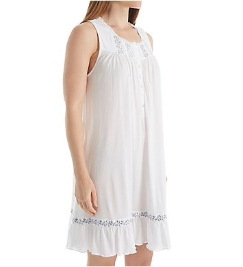 Eileen West Grey Floral Sleeveless Short Chemise