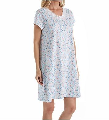 Eileen West Daisy Cotton Jersey Nightshirt