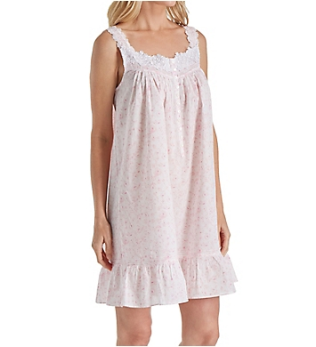 Eileen West Rose Print Cotton Lawn Short Chemise