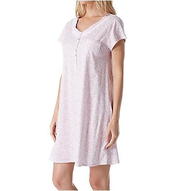Eileen West Rose Scroll Cotton Jersey Short Nightgown