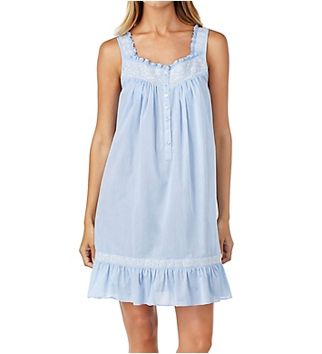 Eileen West Chambray Embroidered Short Chemise