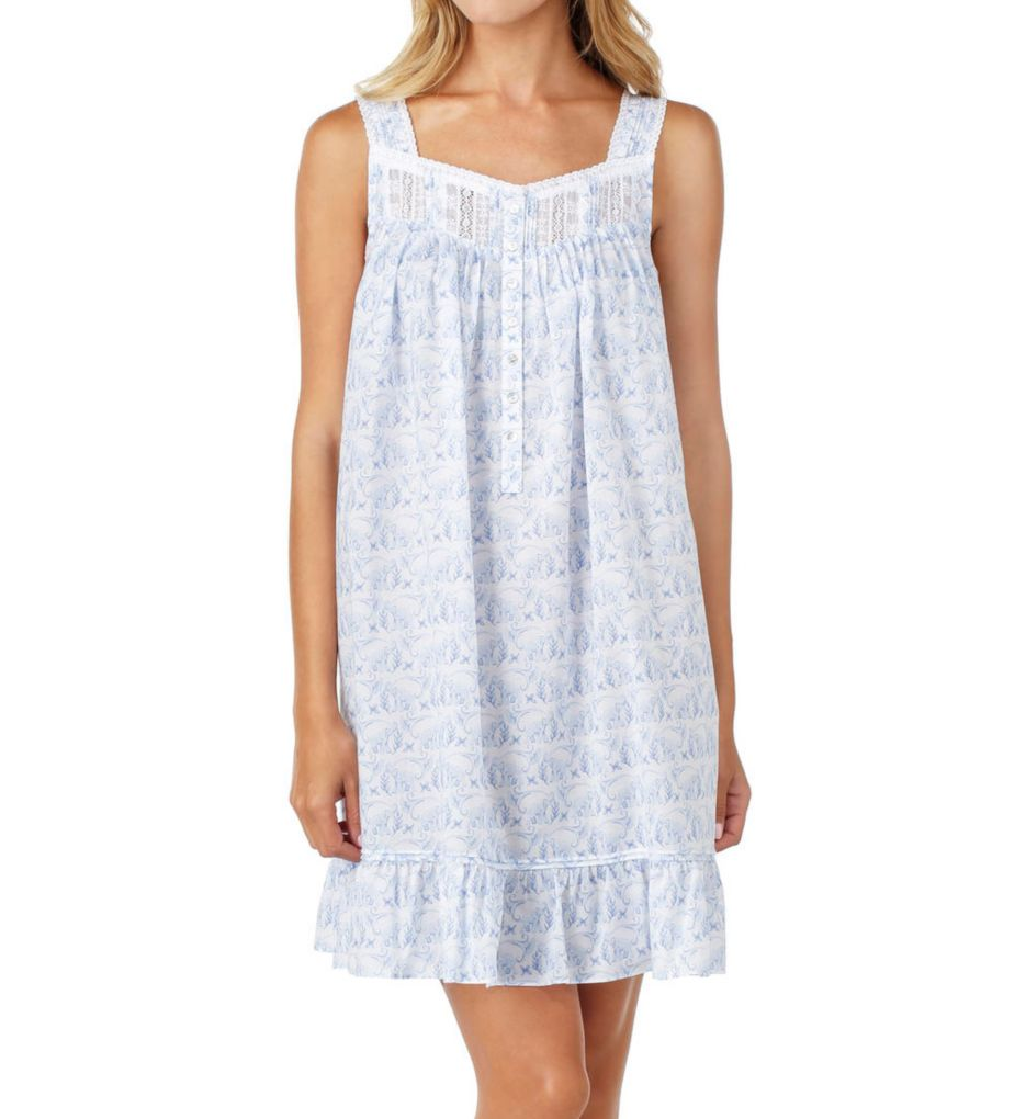 Eileen West Elephant Cotton Lawn Short Chemise