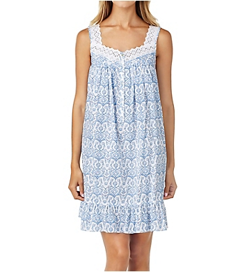 Eileen West Floral Scroll Short Chemise