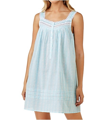 Eileen West Twilight Bay Stripe Cotton Lawn Sleeveless Chemise